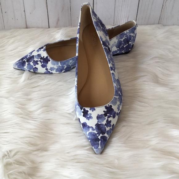 Michael Kors Shoes   Blue Floral Flats